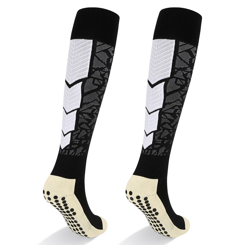 YUEDGE Wear-resistant Anti-slip Sweat Breathable Cotton Sports Running Football Compression Socks